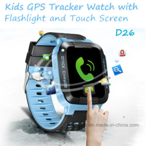 2017 New Hot Selling Kids GPS Tracker Watch with Torch (D26) pictures & photos