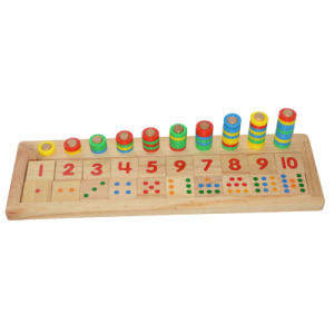 Wooden Count & Match Numbers Board (81945) pictures & photos