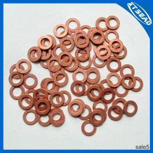 Customize Copper Washers Copper Gasket and Flat Washers pictures & photos