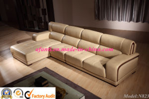 Comfortable Modern Sofa Furniture L Shape Leather Sofa (N823) pictures & photos