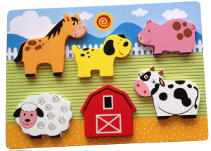 Educational Wooden Puzzle Chunky Puzzle (34770) pictures & photos