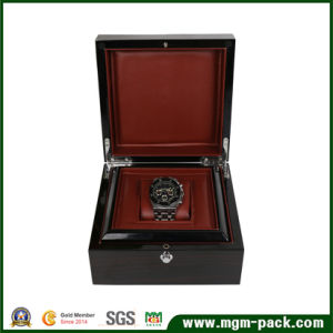 High Glossy Black Lacquer Wooden Watch Box pictures & photos