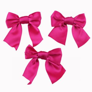 Fuchsia Color Satin Ribbon Bow (JSY-10) pictures & photos