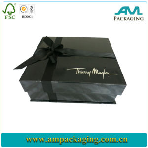 China Hard Folding Gloss Black Gift Shoe Small Custom Cardboard Box Wholesale pictures & photos