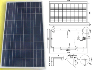 18V 120W 125W 130W Solar Poly Crystalline PV Module Panel with TUV Approved pictures & photos