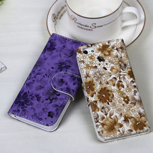 Factory Price OEM Flower Flip Case for iPhone&Samsung pictures & photos