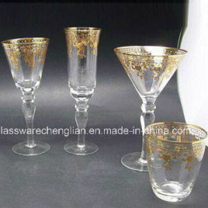 Decorated Wine Glass Cup (B-WG030) pictures & photos