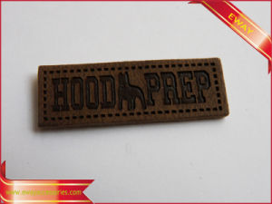 Garment Leather Label Debossed Logo Label PU Label pictures & photos
