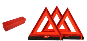 Reflective Safety Car Warning Triangle Traffic Sign with PMMA+ABS+PVC pictures & photos