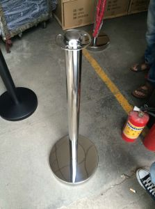 Stainless Steel Velour Rope Crowd Control Barrier