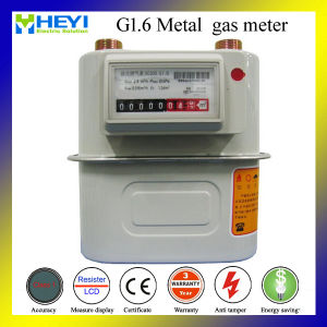 G1.6W Metal Type Mechanical Temperature Compensation Diaphragm Gas Meter pictures & photos
