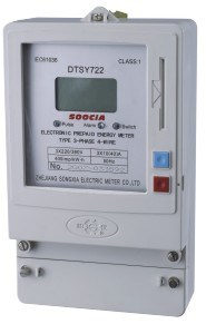 Three-Phase Electric Energy Pre Payment Time-Sharing Energy Meter