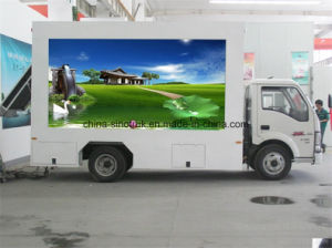 Professional Supply Outdoor Display Mobile LED Advertising Truck with Foldable Stage
