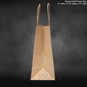 100% Recycled Brown Kraft Paper Bags Shopping Mechandise Party Gift Bag, Paper Shopping Bag with Print Logo by Customer pictures & photos