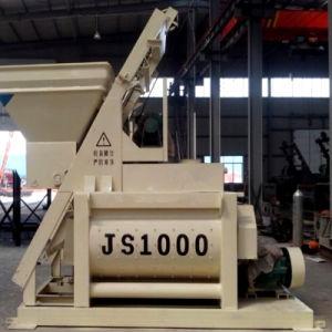 Concrete Machineryjs1000 Double Horizontal Shaft Compulsory Concrete Mixer pictures & photos