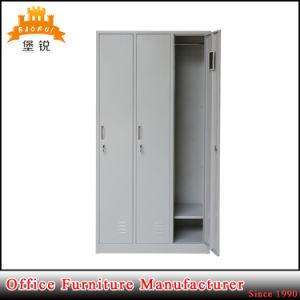 China Manufacture Supplier 3 Door Metal Wardrobe Cabinet pictures & photos