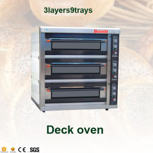 Hot Sale Baking Electric Deck Oven with Ce (3layers 9trays) pictures & photos