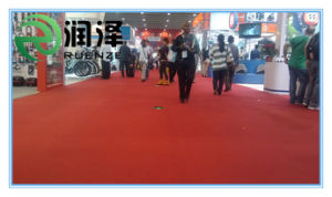 Exhibition Carpet with Red Plain Surface in Singapore at Good Quality pictures & photos