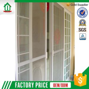 Balcony French UPVC Sliding Doors With Screen Design
