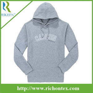 Women′s Fleece Kangroo Hoodies Sweatershirt with Embo Logo
