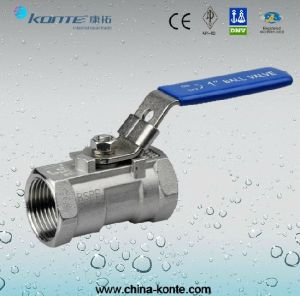 Stainless Steel Threaded 2PCS Ball Valve with Lock Device pictures & photos
