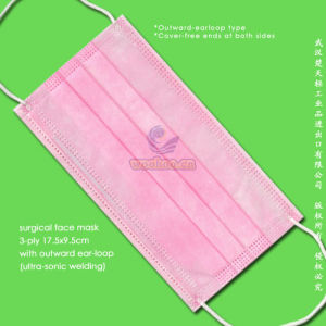 Disposable Nonwoven Face Mask with Elastic Earloops pictures & photos