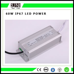 60W Constant Voltage IP65 IP67 LED Driver, Power Supply, Switching Power Supply 12V/24V Waterproof LED Power Supply pictures & photos