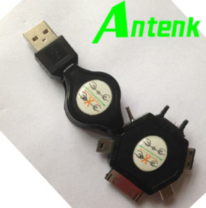 Retractable USB2.0 Cords with USB a Plug, Available in Various Colors and Designs pictures & photos