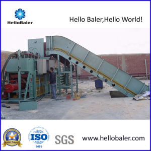 Hydraulic Automatic Waste Paper Baler with Conveyor (HSA7-10) pictures & photos