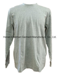 Long Sleeve Grey Round Neck T-Shirt pictures & photos