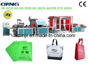 Onl-Xc700-800 Automatic Ultrasonic Non Woven Fabric Bag Forming Machine Price with Handle pictures & photos