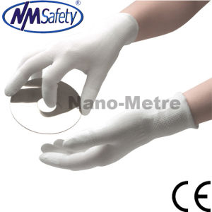 Nmsafety Fingertip Coated PU Top Fit Work Glove pictures & photos
