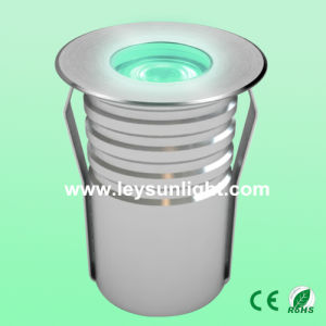 50mm Diameter Recessed IP67 LED Garden Path Light Fitting