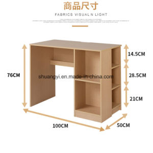 Colloege School Dormitory PC Laptop High Cheap Wooden Desk with Bookshelf pictures & photos