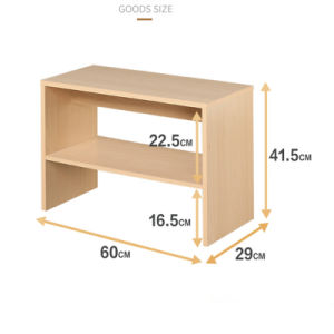 Hot Sale Stand Style 2 Opened Shelves Wood Shoe Cabinet Shoe Rack pictures & photos