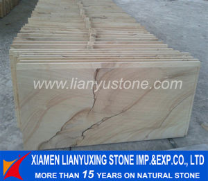 Yellow Teakwood Sandstone Wall Claddings