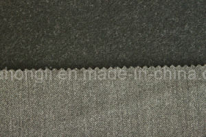 Single Sided Brushed, Yarn Dyed Herringbone Twill Fabric, 230GSM pictures & photos