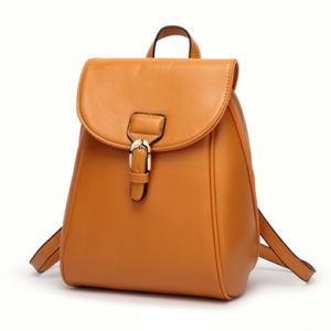 2017 Wholesale Fashion Style Ladies Leather School Backpack pictures & photos