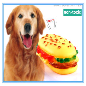 Pet Product Toy Evade Glue Long Hamburger Shape Sound Toys Resistance to Bite pictures & photos