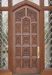 Solid Wooden Door with Good Quality and New Design pictures & photos