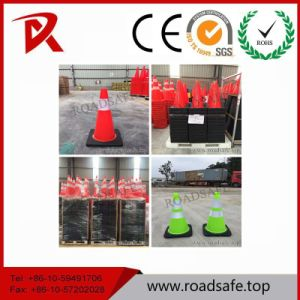 Road Signs Reflective Plastic PVC Orange Reflective Traffic Cone pictures & photos