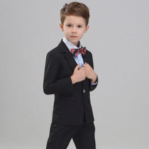 Factory Price Custom Black Children Three Pieces Suit pictures & photos
