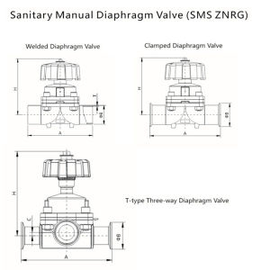 Sanitary Stainless Steel Manual Diaphragm Valve (SMS ZNRG) pictures & photos