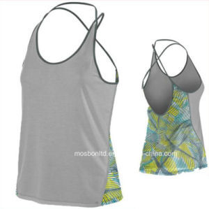 Women Waistcoats Custom Gym Sport Girls Yoga Vest/Sexy Skinny Tracksuit pictures & photos