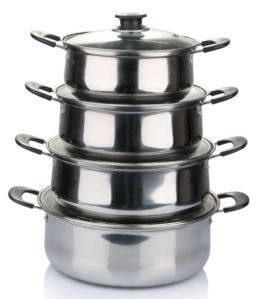 American Style Cookware Stainless Steel Pot with Bakelite Handle Cookware Set pictures & photos