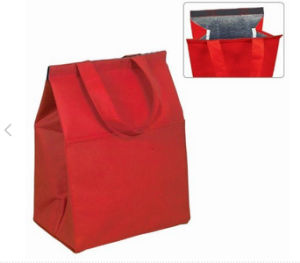 Non-Woven Material and Food Use Cooler Bag Insulated Grocery Lunch Bag pictures & photos