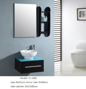 Wall Mounted Bathroom Vanity with Basin with Mirror pictures & photos