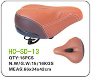 Leather Electric Bicycle Saddle (SD-2013) pictures & photos