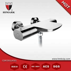 Contemporary Thermostatic Shower Mixer with Chrome Finish