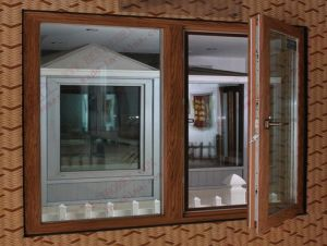 Plastic Woodgrain Casement Window (BHP-CW05) pictures & photos
